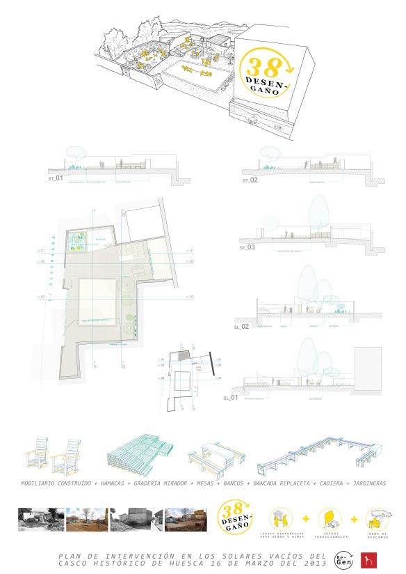 Diseño Final Desengaño38 * Espacio Ludico pedagógico + Descanso activo + Siestódromo + Juegos + Jardín Medicinal